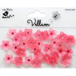 Little Birdie Crafts - Vellum Elements Collection - Jeweled Florettes - Misty Rose