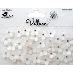 Little Birdie Crafts - Vellum Elements Collection - Jeweled Florettes - White