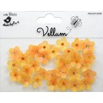 Little Birdie Crafts - Vellum Elements Collection - Jeweled Florettes - Lemon