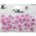 Little Birdie Crafts - Vellum Elements Collection - Jeweled Florettes - Lilac