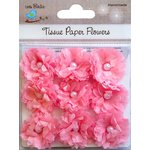 Little Birdie Crafts - Tissue Paper Flowers Collection - Pearl Flower - Pink