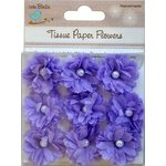 Little Birdie Crafts - Tissue Paper Flowers Collection - Pearl Flower - Purple