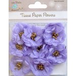 Little Birdie Crafts - Tissue Paper Flowers Collection - Pollen Blooms - Purple