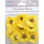 Little Birdie Crafts - Tissue Paper Flowers Collection - Pollen Blooms - Yellow