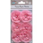 Little Birdie Crafts - Tissue Paper Flowers Collection - Pearl Petals - Pink