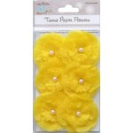 Little Birdie Crafts - Tissue Paper Flowers Collection - Pearl Petals - Yellow