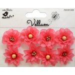 Little Birdie Crafts - Vellum Elements Collection - Serenade Blooms - Misty Rose