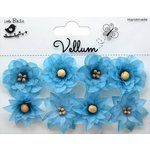 Little Birdie Crafts - Vellum Elements Collection - Serenade Blooms - Cool Blue