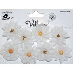 Little Birdie Crafts - Vellum Elements Collection - Serenade Blooms - White