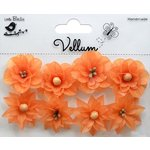 Little Birdie Crafts - Vellum Elements Collection - Serenade Blooms - Sunset Orange