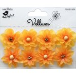 Little Birdie Crafts - Vellum Elements Collection - Serenade Blooms - Lemon