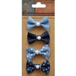 Little Birdie Crafts - Denim Collection - Pearl Bows