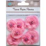 Little Birdie Crafts - Tissue Paper Flowers Collection - Rosettes - Pink