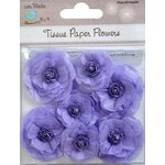 Little Birdie Crafts - Tissue Paper Flowers Collection - Rosettes - Purple