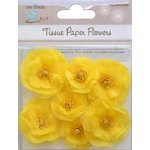 Little Birdie Crafts - Tissue Paper Flowers Collection - Rosettes - Yellow