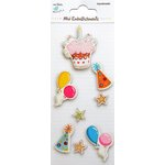 Little Birdie Crafts - Mini Embellishments - Balloon and Cake