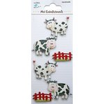 Little Birdie Crafts - Mini Embellishments - Cows