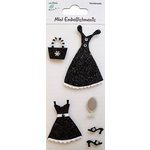 Little Birdie Crafts - Mini Embellishments - Black Dress