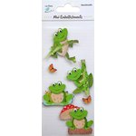 Little Birdie Crafts - Mini Embellishments - Frog on Log
