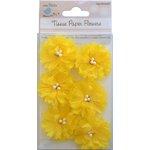 Little Birdie Crafts - Tissue Paper Flowers Collection - Sun Flower - Yellow