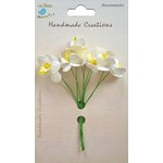 Little Birdie Crafts - Handmade Creation Collection - Mini Orchid Flower - Yellows