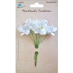 Little Birdie Crafts - Handmade Creation Collection - Mini Orchid Flower - Whites