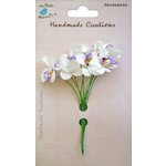 Little Birdie Crafts - Handmade Creation Collection - Mini Orchid Flower - Purples