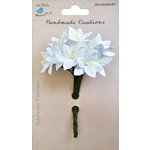 Little Birdie Crafts - Handmade Creation Collection - Mini Lily Flower - Whites
