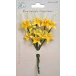 Little Birdie Crafts - Handmade Creation Collection - Stemmed Lily Flower - Yellows