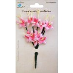 Little Birdie Crafts - Handmade Creation Collection - Stemmed Lily Flower - Pinks