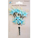 Little Birdie Crafts - Handmade Creation Collection - Stemmed Lily Flower - Blues