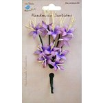 Little Birdie Crafts - Handmade Creation Collection - Stemmed Lily Flower - Purples