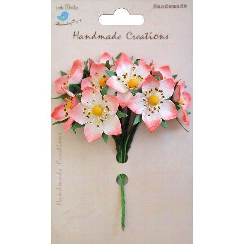 Little Birdie Crafts - Handmade Creation Collection - Strawberry Flower - Reds