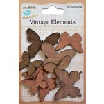 Little Birdie Crafts - Vintage Elements Collection - Walnut Butterflies