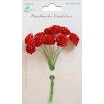 Little Birdie Crafts - Handmade Creation Collection - Open Rose - Red