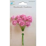 Little Birdie Crafts - Handmade Creation Collection - Open Rose - Pink