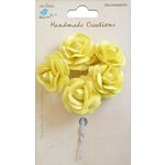 Little Birdie Crafts - Handmade Creation Collection - Open Rose - Yellow