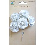 Little Birdie Crafts - Handmade Creation Collection - Open Rose - White