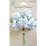 Little Birdie Crafts - Handmade Creation Collection - Curly Rose - White