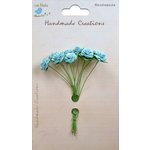 Little Birdie Crafts - Handmade Creation Collection - Open Rose - Blue