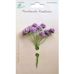Little Birdie Crafts - Handmade Creation Collection - Open Rose - Purple
