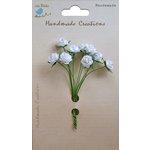 Little Birdie Crafts - Handmade Creation Collection - Open Rose - White