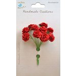 Little Birdie Crafts - Handmade Creation Collection - Open Rose - Red