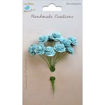 Little Birdie Crafts - Handmade Creation Collection - Open Rose - Blue