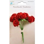 Little Birdie Crafts - Handmade Creation Collection - Curly Rose - Red
