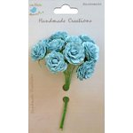 Little Birdie Crafts - Handmade Creation Collection - Curly Rose - Blue
