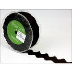 May Arts - Designer Ribbon - Grosgrain Ric Rac - Black - 30 Yards