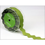 May Arts - Designer Ribbon - Grosgrain Ric Rac - Olive - 30 Yards