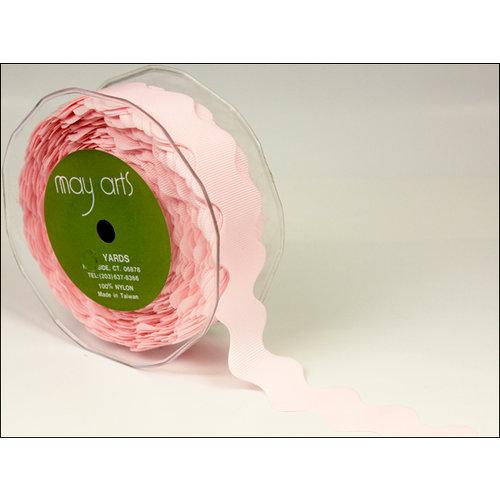 May Arts - Designer Ribbon - Grosgrain Ric Rac - Pink - 30 Yards
