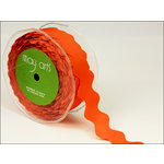 May Arts - Designer Ribbon - Grosgrain Ric Rac - Orange - 30 Yards